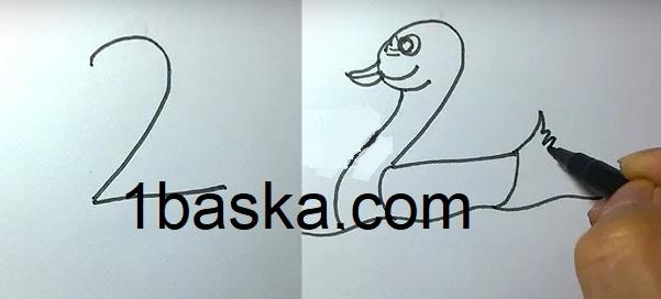 1 Den 10 A Kadar Rakamlarla Hayvan çizimleri Yapılışı Burada